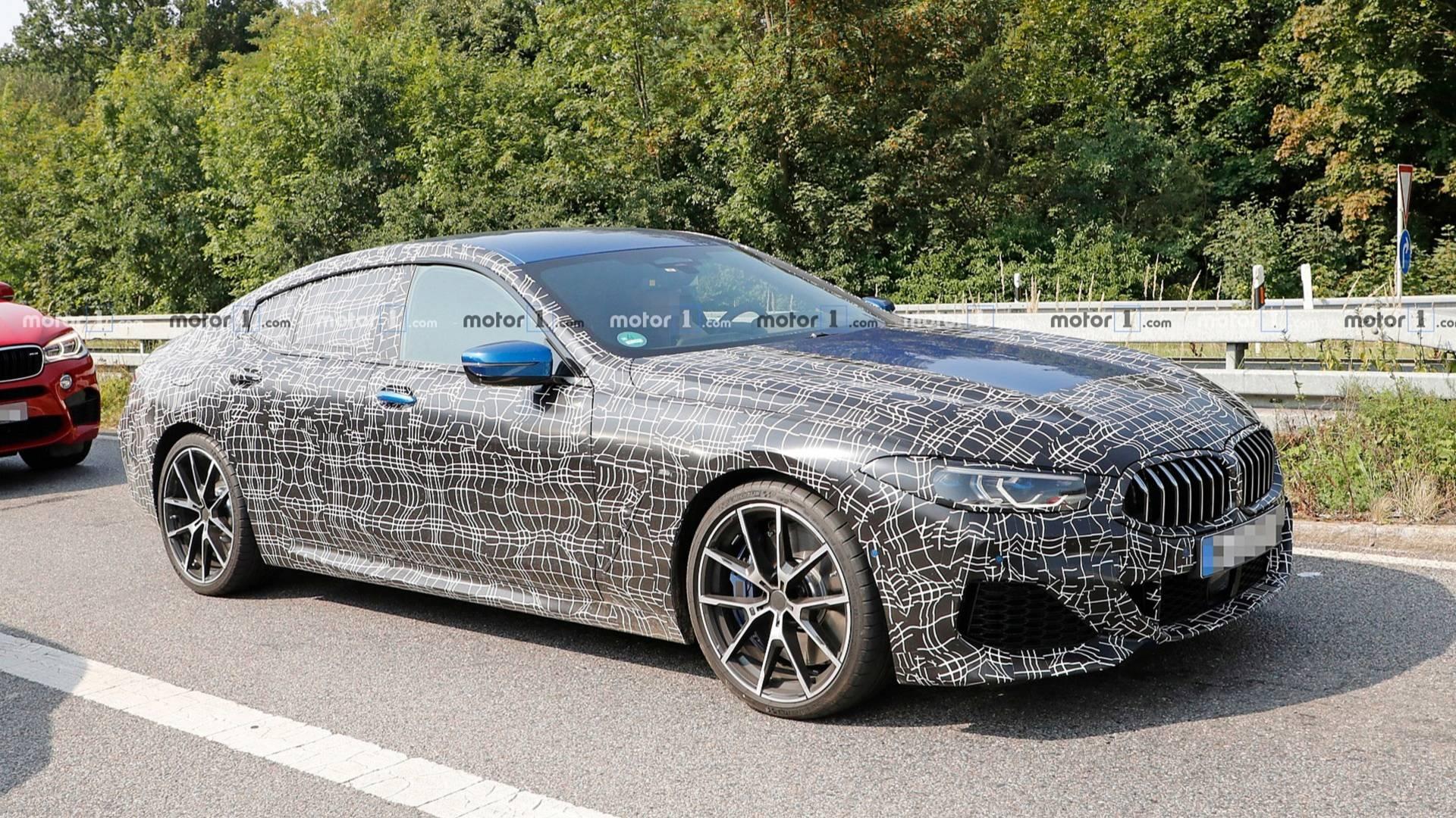 2019 - [BMW] Série 8 Gran Coupé [G16] Bmw-8-series-gran-coupe-spy-photo