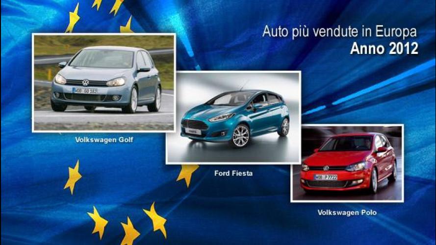 Auto più vendute in Europa nel 2012: sul podio Golf, Fiesta e Polo