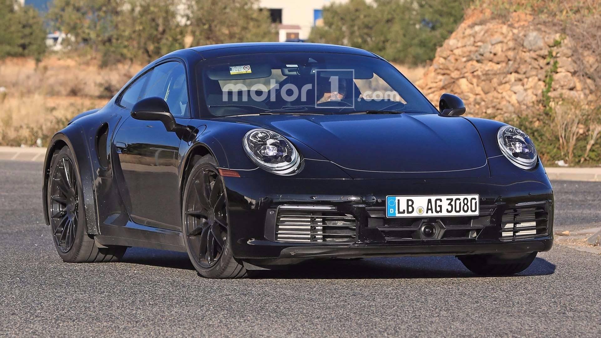 2019 Porsche 911 Turbo S >> Next Gen Porsche 911 Turbo Is Back In Black Spied On The Street