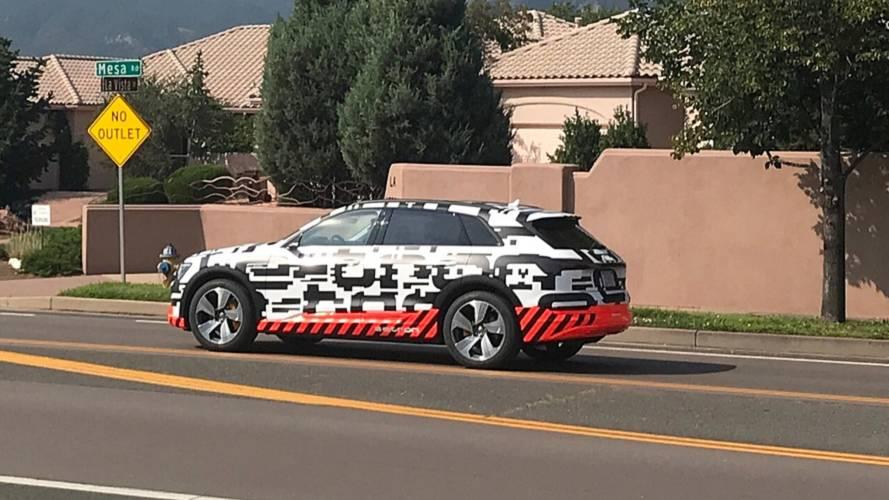 Audi E-Tron Spied Testing Near Pikes Peak