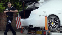Illegal immigrants in the trunks of new Maseratis