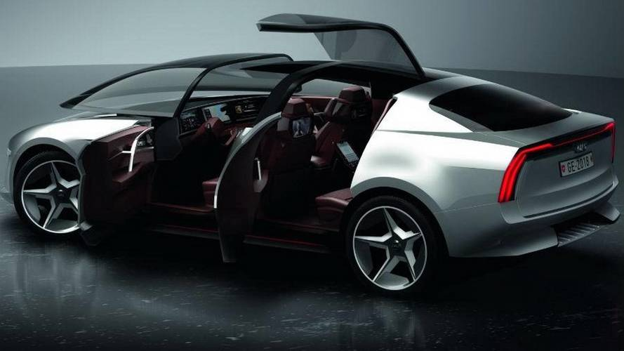 Giugiaro Sybilla Sedan Proposes Front Canopy, Rear Gullwing Doors