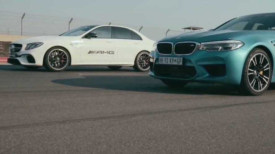 VIDÉO - La Mercedes-AMG E 63 S rencontre à nouveau la BMW M5