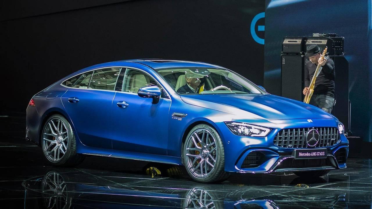 2019 Mercedes-AMG GT 4-Door Coupe Geneva 2018 & Mercedes-AMG GT 4-Door Coupe at the 2018 Geneva Motor Show | Motor1 ...