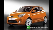 Novo Ford KA 2009 - Revista britânica mostra fotos do novo modelo