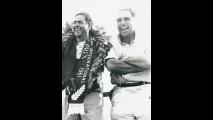 John Cooper e Jack Brabham celebrano la vittoria del Gran Premio nel 1961