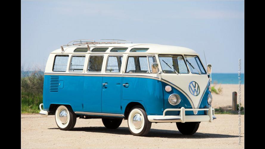 Makelloser VW T1 Samba-Bus vor Versteigerung
