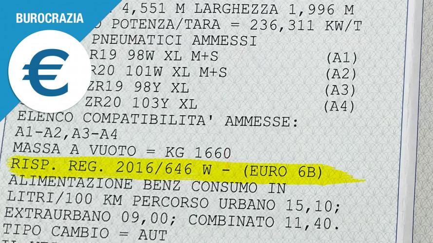 Auto Euro 5 ed Euro 6, come si riconosce lo standard