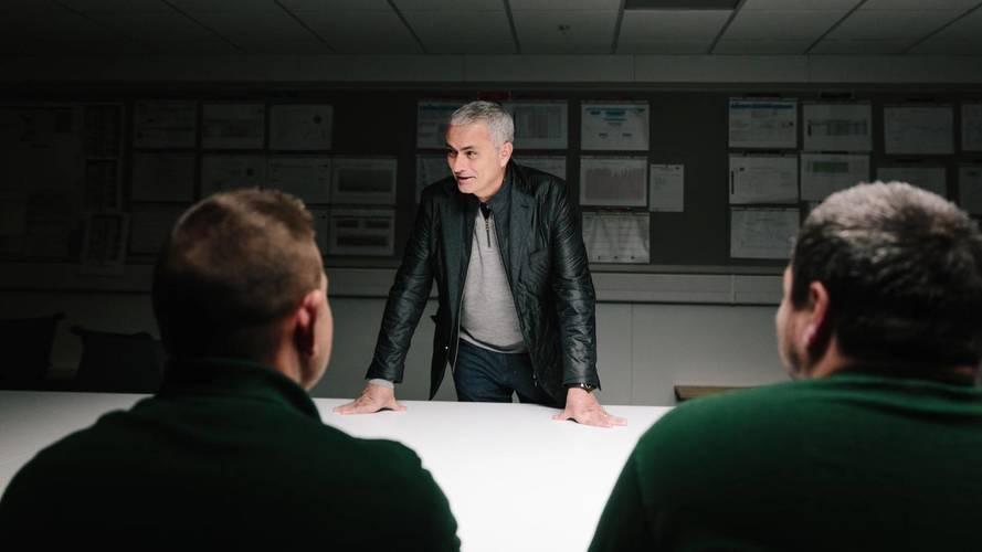 Jose Mourinho visits Jaguar F-Pace production line