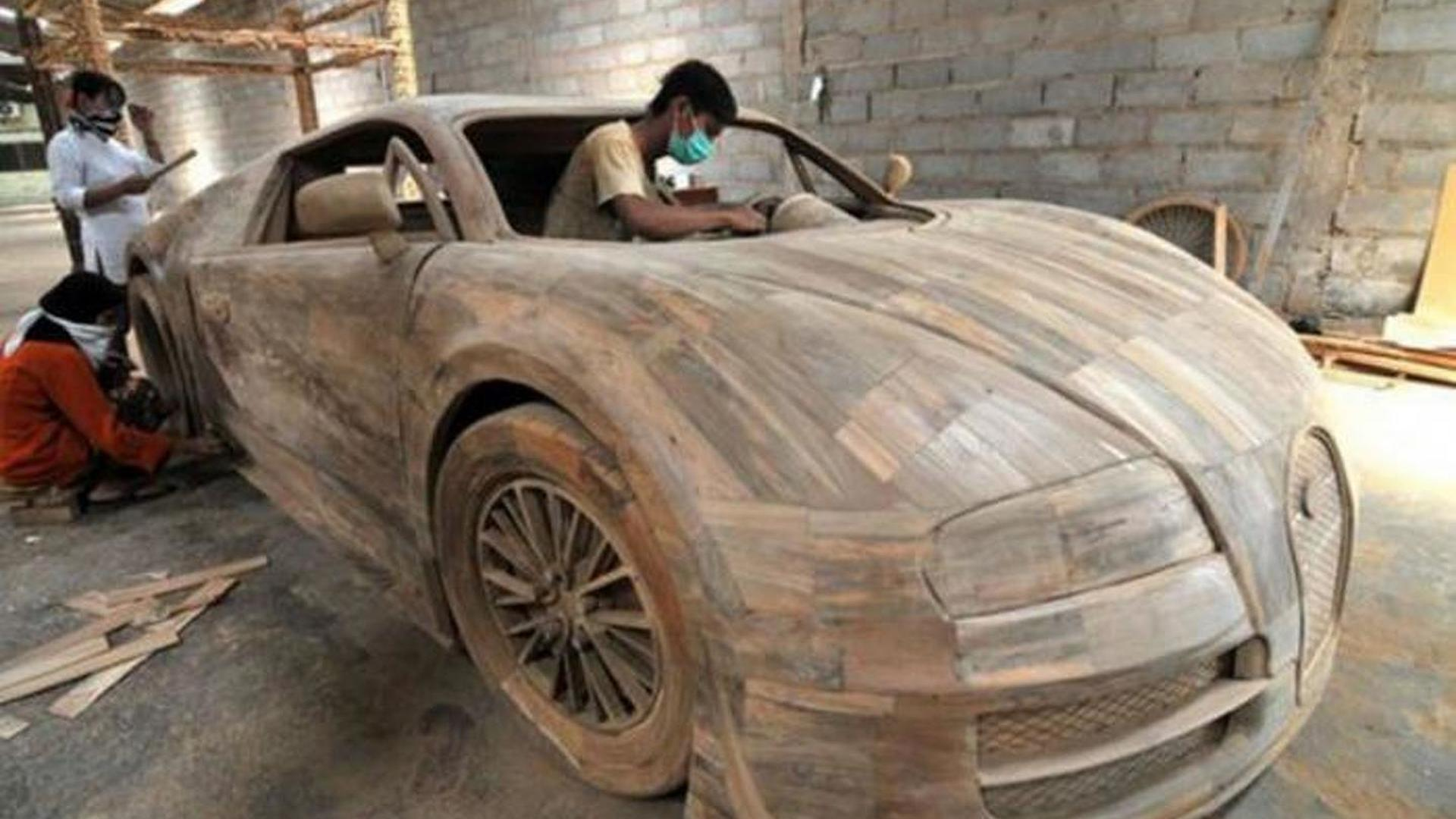 Bugatti Veyron full-size replica made from wood costs just $3,300 ...