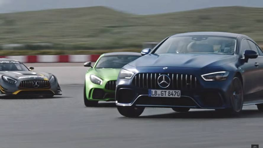 AMG GT 4-Door Ad Shows Hamilton And His Furry Companions At Track