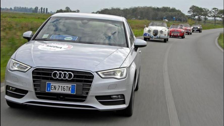 In viaggio con la nuova Audi A3 sulla scia del Gran Premio Nuvolari 2012