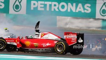 Sebastian Vettel, Ferrari SF16-H and Nico Rosberg, Mercedes AMG F1 W07 Hybrid collide at the start of the race