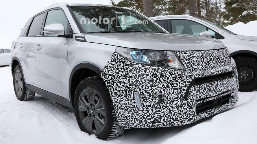 Suzuki Vitara facelift spy photos