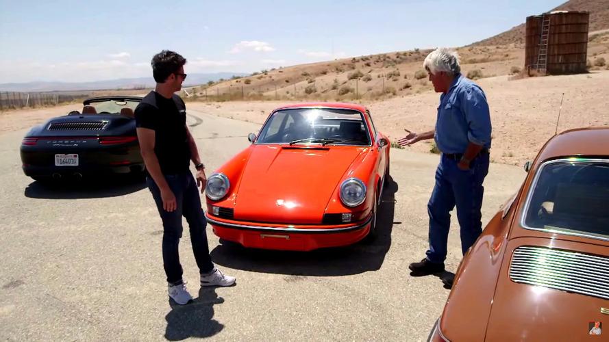 Jay Leno ve Patrick Dempsey klasik Porsche 911 RS'in tadını çıkarıyor