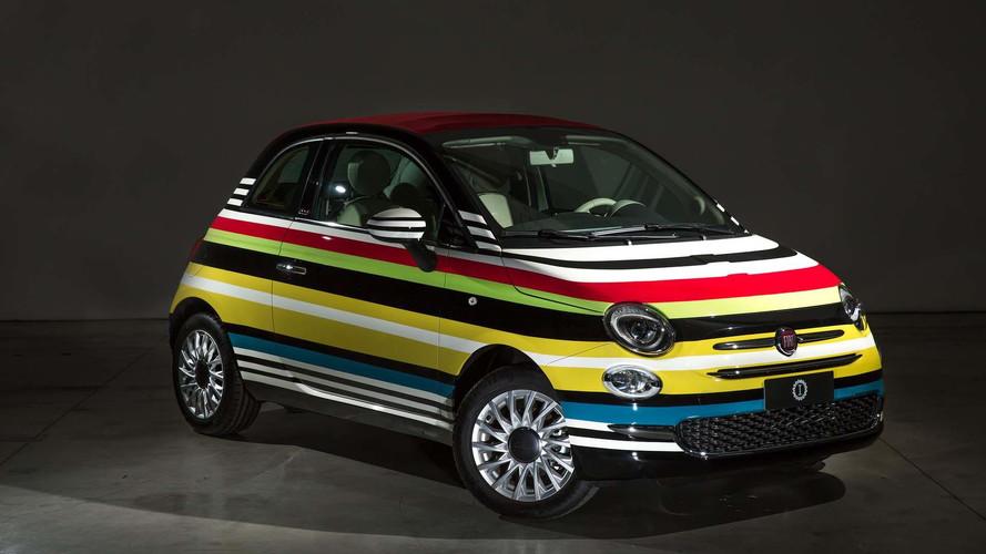 Fiat 500C multicolor, subastado con fines benéficos