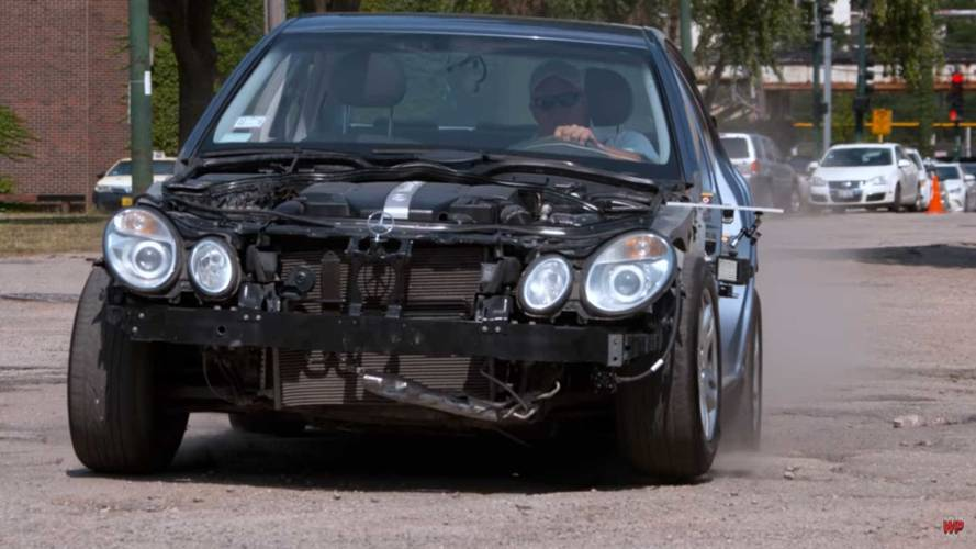 Stripped Merc Endures Round 2 Of Pothole Torture In Slo-Mo 4K Vid