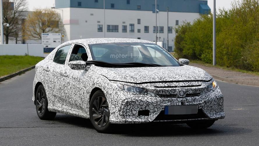 Spied 2017 Honda Civic hatchback likely has 1.0-liter turbo engine
