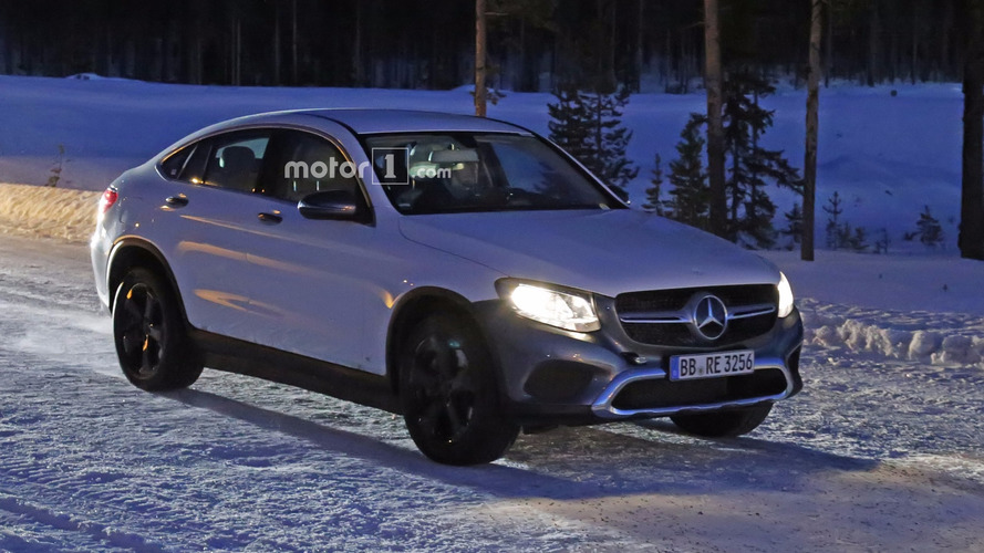 Mercedes EQ electric crossover spied disguised as a GLC Coupe