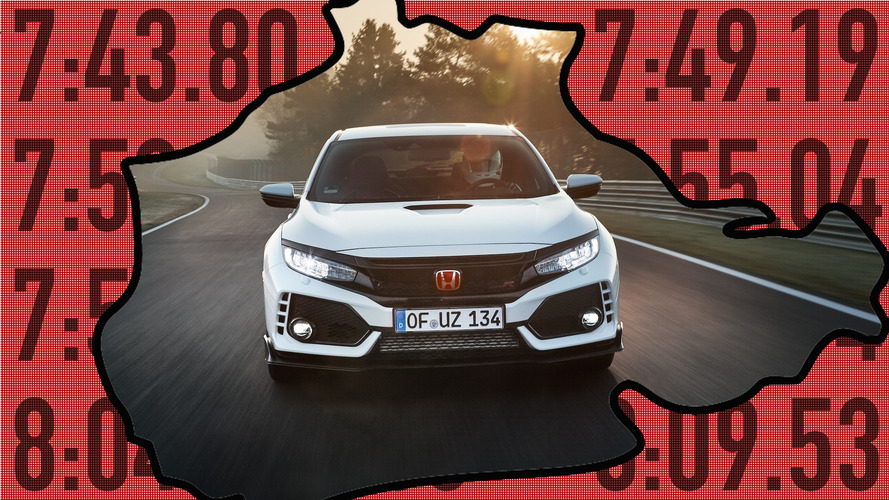 El Honda Civic Type R 'machaca' a estos 10 coches en Nürburgring