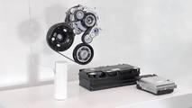 VW 48-V belt-integrated starter generator, 48-V battery and DC/DC converter