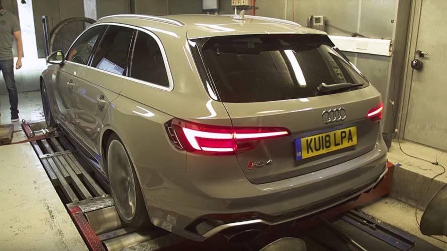 Audi RS4 Avant'ın dyno'da ne kadar güç ürettiğini görün