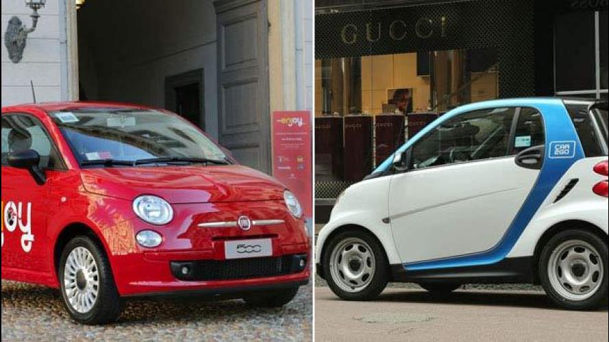 Enjoy vs car2go, il car sharing di Milano a confronto