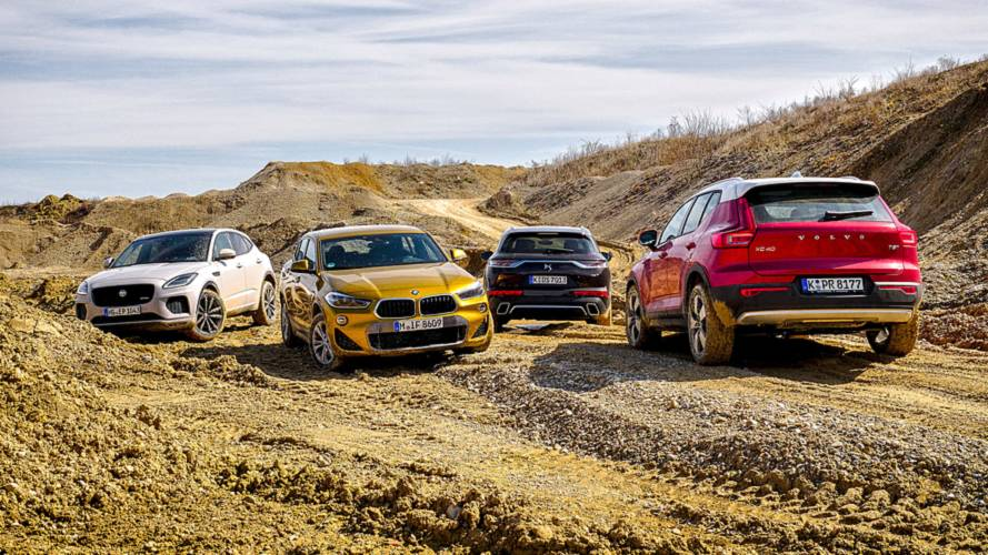 Kompakt-SUV-Test: BMW X2 vs Volvo XC40 vs Jaguar E-Pace vs DS7 Crossback