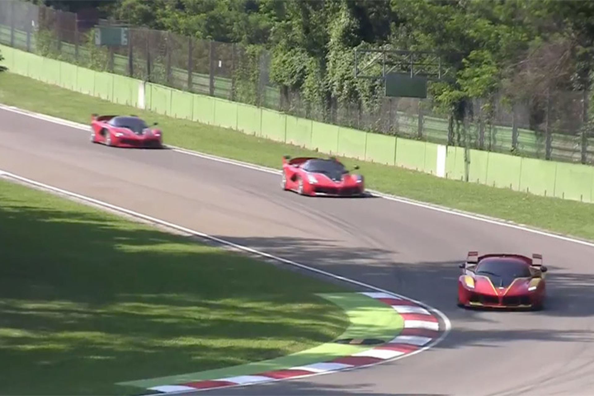 Watch Four $2.7 Million Ferrari FXXK Hypercars Roar on Track