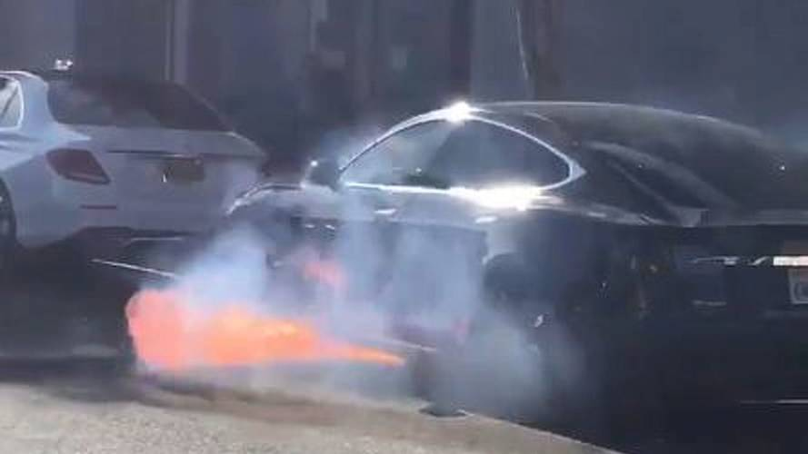 Tesla Model S Catches Fire While In Motion