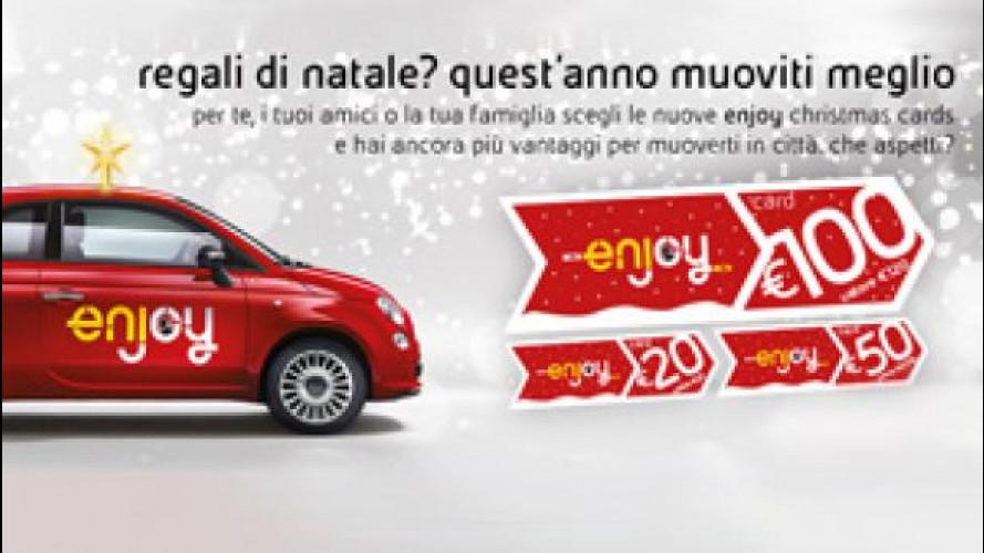 Il car sharing di Enjoy diventa un regalo di Natale
