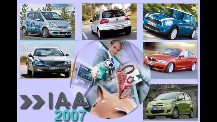 Die Spritsparer der IAA: Umweltfreundliche Autos en masse