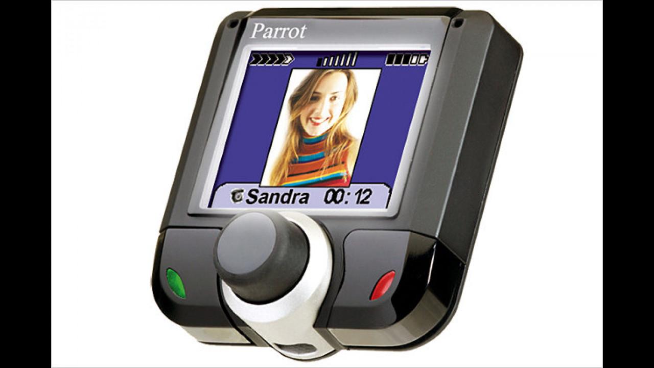 Bunter Bluetooth-Markt: Parrot-Freisprecheinrichtung im Test