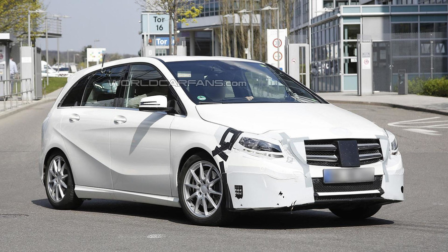 Facelifted Mercedes-Benz B-Class spied in Stuttgart