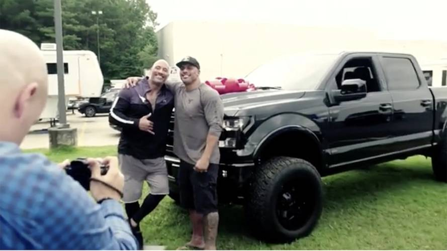Watch Dwayne Johnson Surprise His Stunt Double With an Amazing Gift