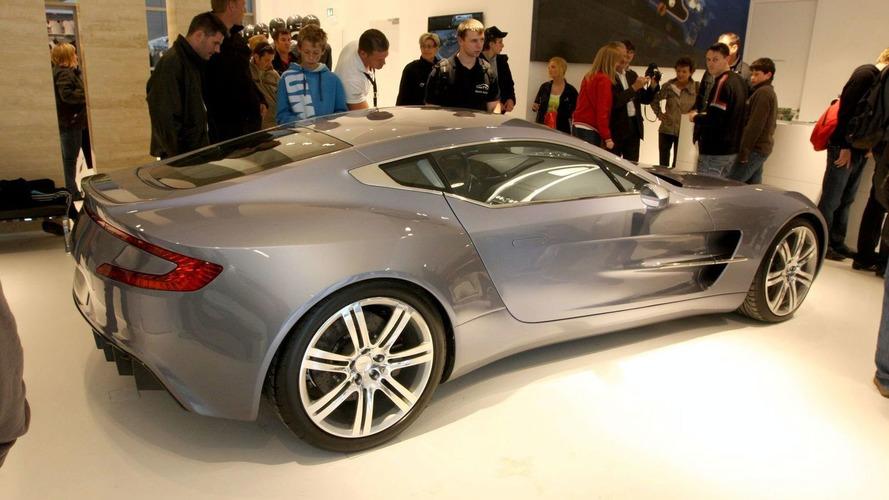 Aston Martin One-77 on display at Nurburgring store grand opening
