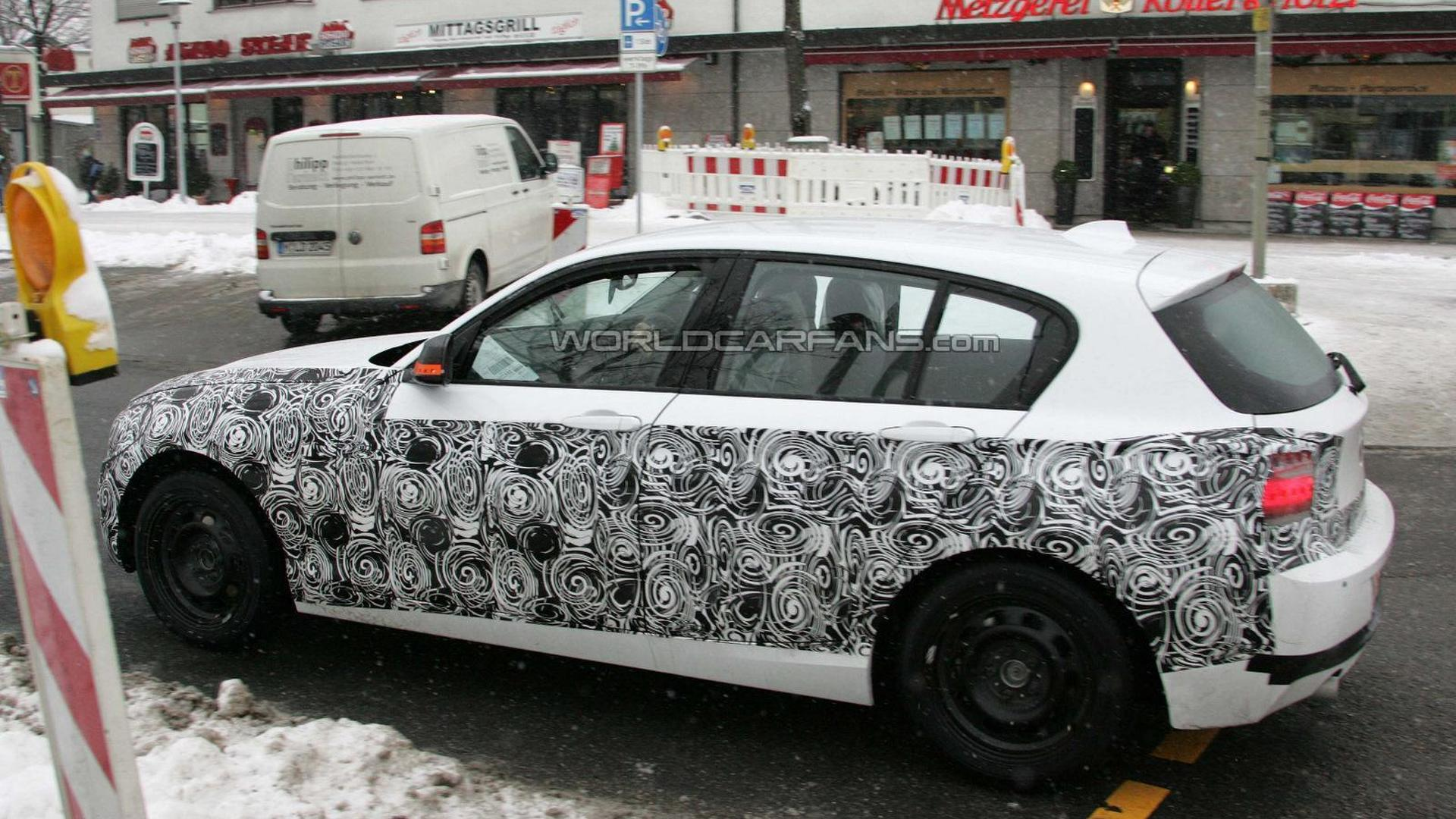 2012 BMW 1-Series spied with less camouflage