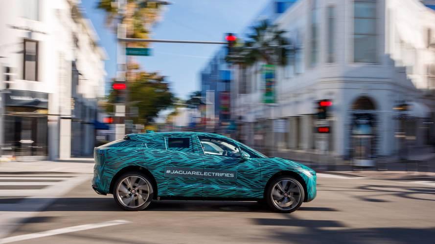 Le Jaguar I-Pace sous le soleil de Los Angeles