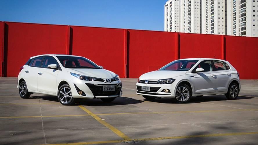 Comparativo Toyota Yaris XS x VW Polo Comfortline: Questão de referência