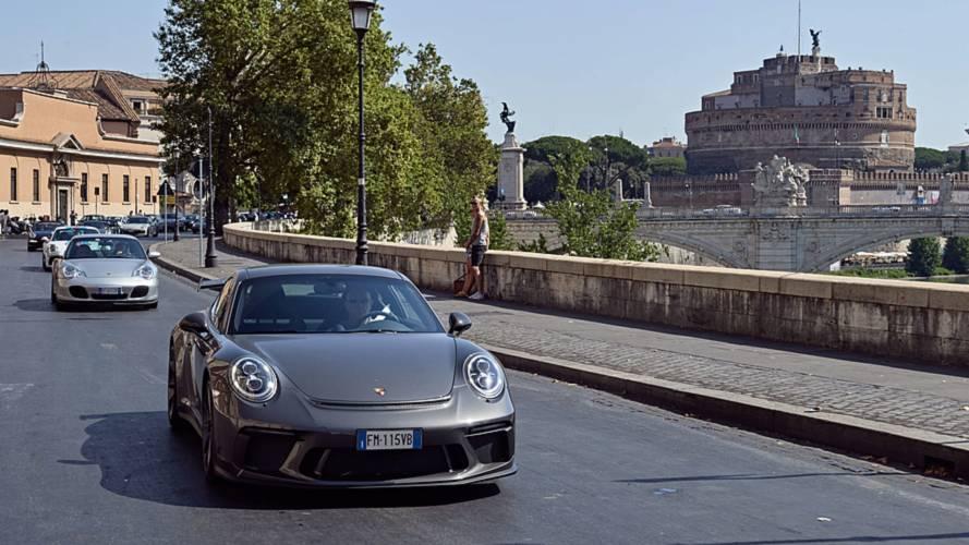 Porsche, la festa dei 70 anni è arrivata a Roma