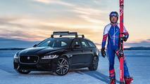 Record du monde en ski pour Jaguar XF Sportbrake