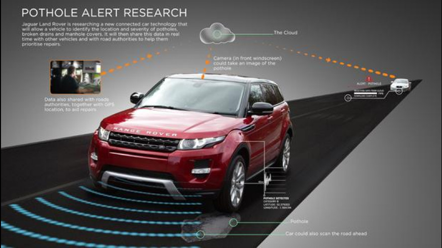 Jaguar Land Rover a caccia di buche