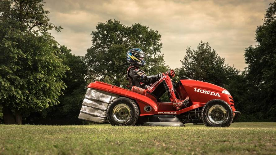 Honda Mean Mower Sorts The Goodwood Lawn Before Festival Of Speed