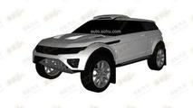 Rally-spec Range Rover Evoque patent photo
