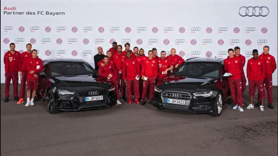 Audi, le auto per i calciatori del Bayern Monaco [VIDEO]