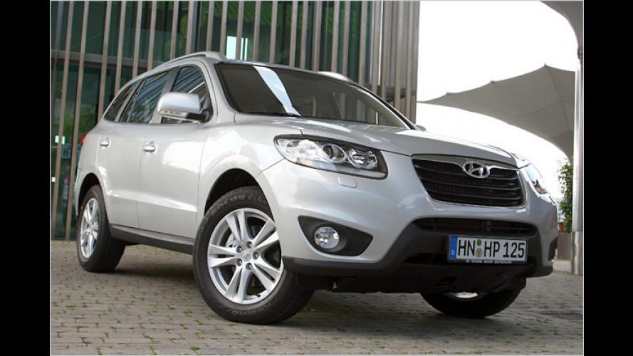 Modifizierte Front und neue Motoren für Hyundai Santa Fe