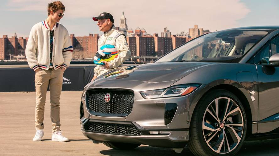 See Baby Driver Star Exercise A Jaguar I-Pace In New York
