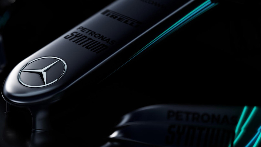 Mercedes teases images of F1 2017 car