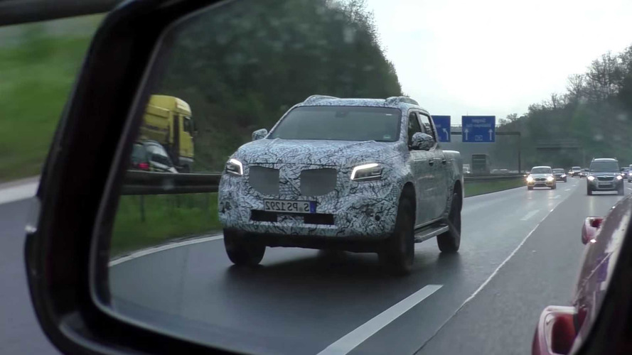 Mercedes X-Serisi pick-up prototipi Almanya'da yakalandı