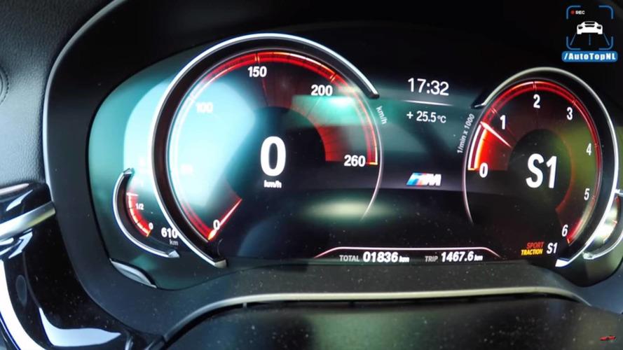 BMW 640d GT'nin maksimum hızına çıkışını izleyin
